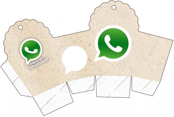 Caja para cupcakes, chocolates o golosinas de WhatsApp.