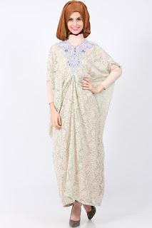 Gamis Kaftan Brokat Trend Baju Muslim di Thamrin City Terbaru