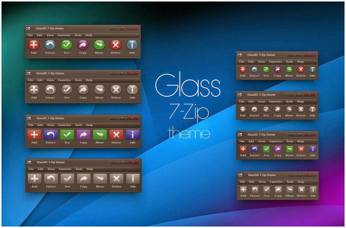Glass 7 Zip Theme Cleodesktop I Customized Desktop
