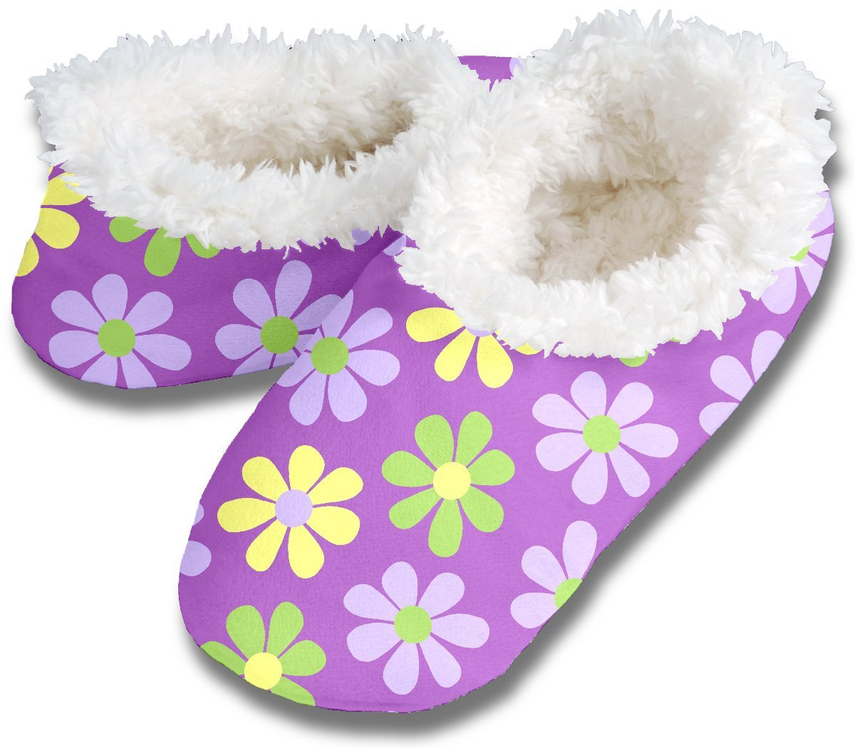 Snoozie Slippers Snoozies Daisy Chain Footies