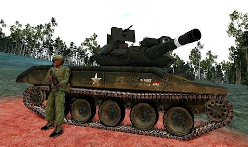 Arma3用Unsungベトナム戦争MODのM551 Sheridan 空挺戦車