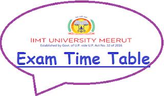 IIMT University Exam Date Sheet 2020