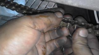 Gambar cara sambungkan rantai setelah dipotong