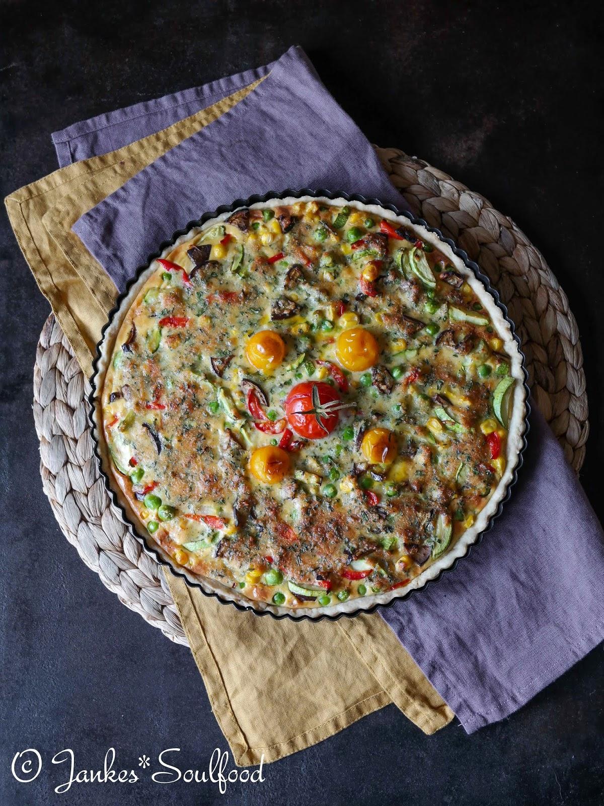 Bunte Gemüse-Quiche von Jankes Soulfood