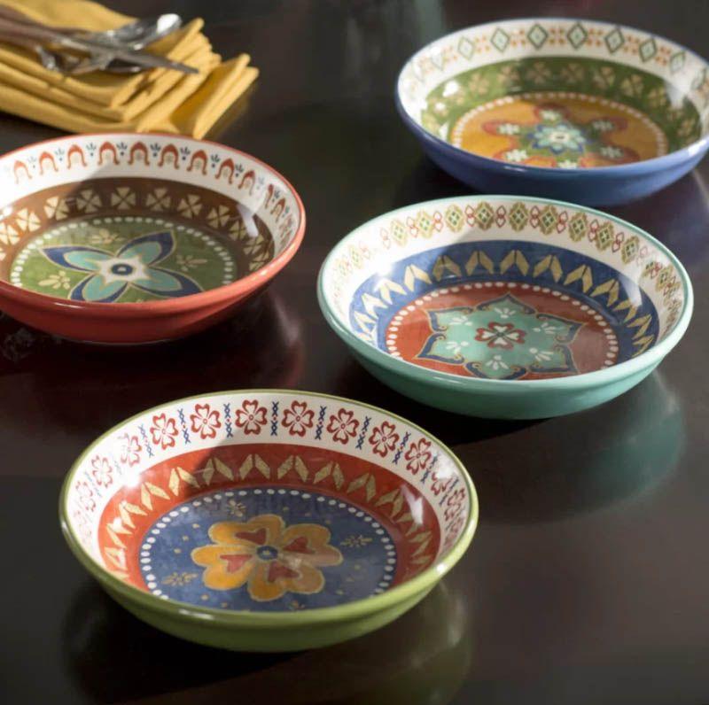 Brimson 4 Piece Pasta Kitchen Bowl Set