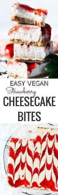 Easy Vegan Strawberry Cheesecake