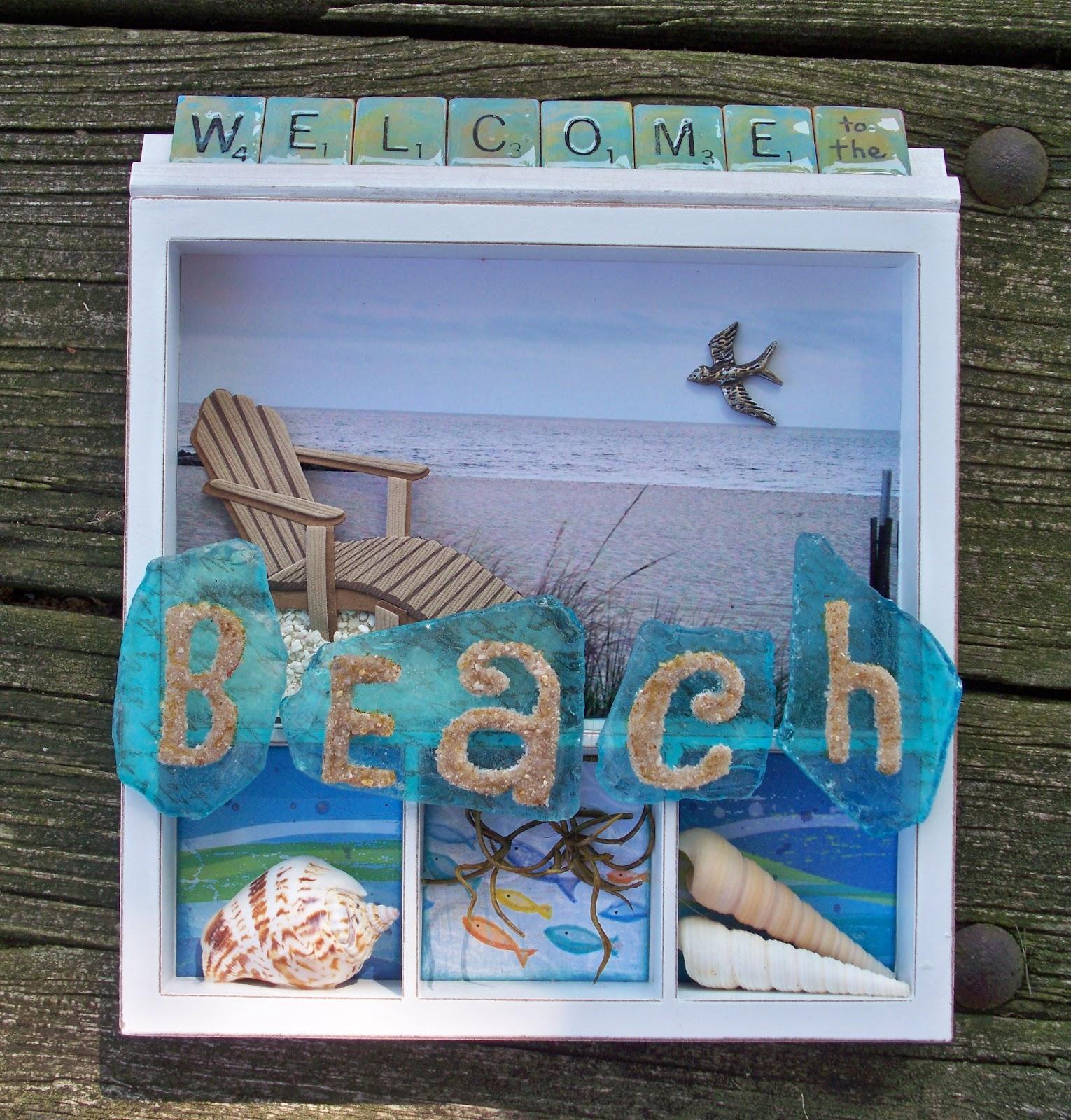 Beach Themed Shadow Box Ideas