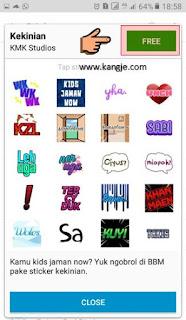 Langkah 5 Cara Download Stiker BBM Gratis