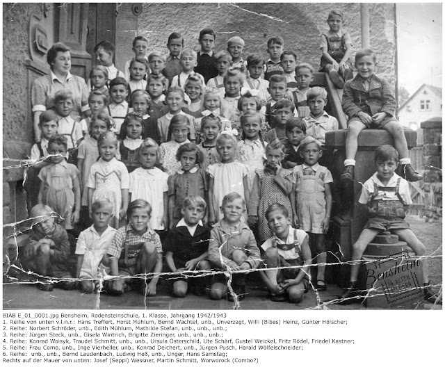 BIAB E_01_0001.jpg Rodensteinschule, Jahrgang 1942/1943, 1. Klasse, Foto von Herrn Martin Schmitt