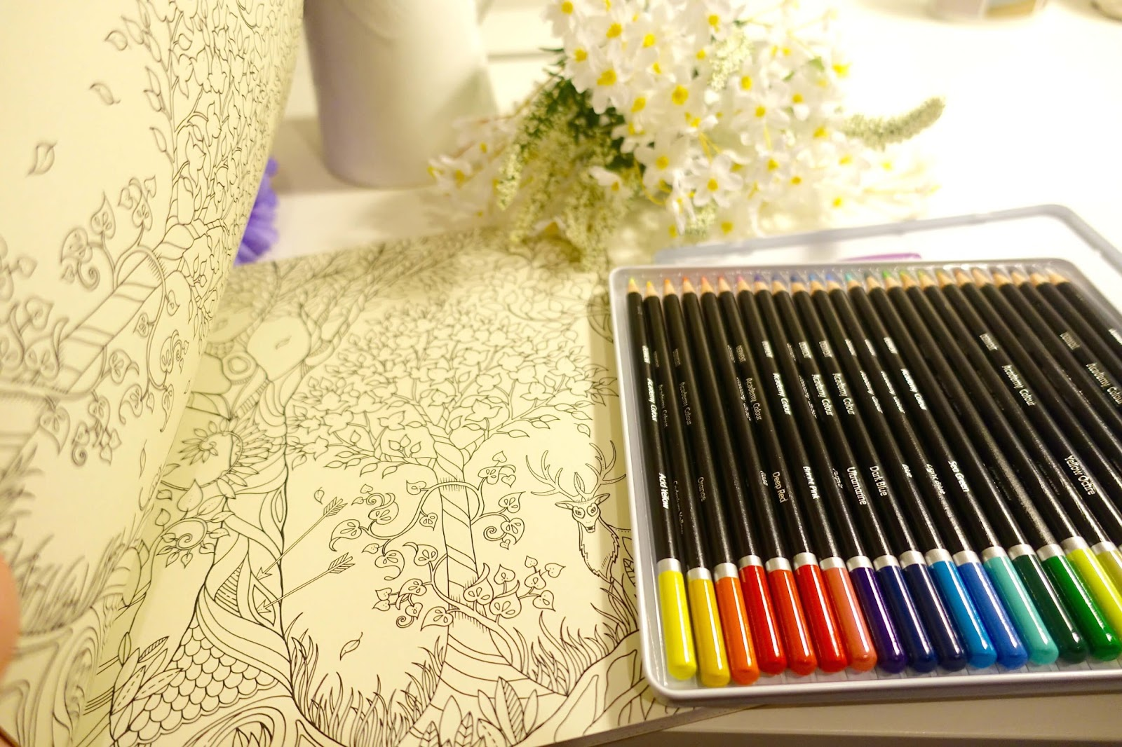 Colouring book valentines day gift idea