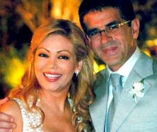 Foto de Gisela Valcárcel y su ex esposo