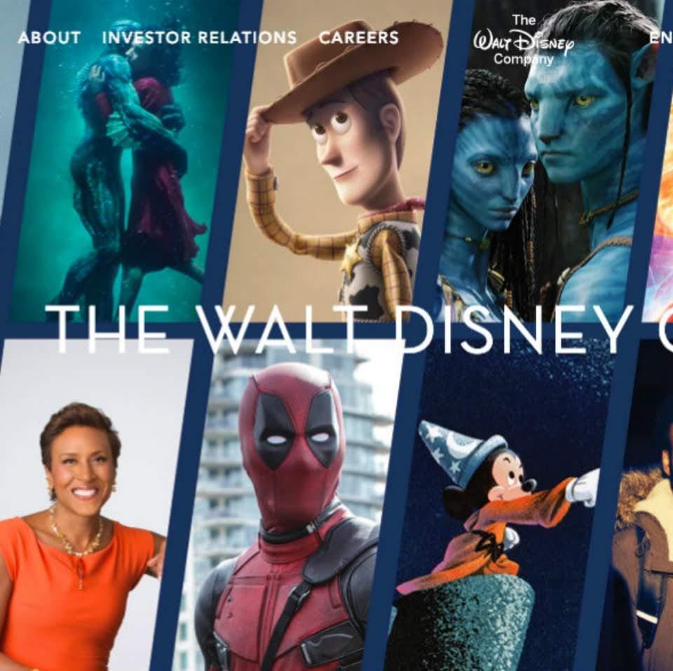 Deadpool show up on The Walt Disney Company's website : ディズニーを代表するキャラクターのひとりとして、あろうことか、デッドプールがミッキー・マウスと並んで、公式サイトに登場 ! !