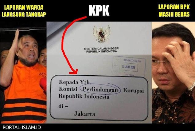 Patrialis Ditangkap Atas Laporan Warga, Ahok Bebas Padahal Ada Laporan BPK, Komisi Perlindungan Korupsi?