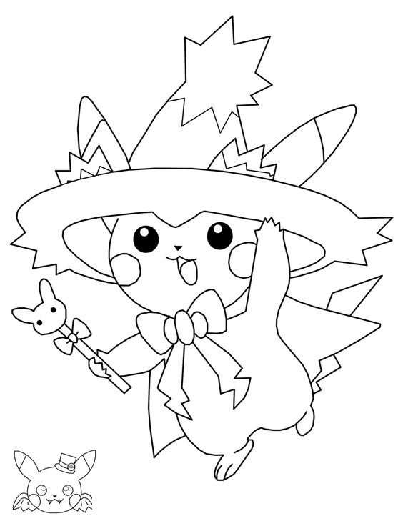 Tranh tô màu Pokemon 89