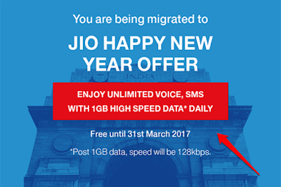 Jio's Happy New Year Offer Migration