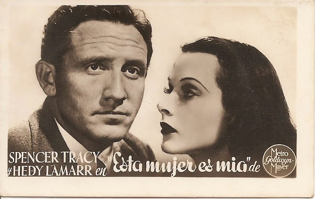 Foto antigua de Spencer Tracy y Hedy Lamarr