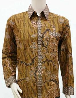 Baju Batik Keris Pria Lengan Panjang Modern