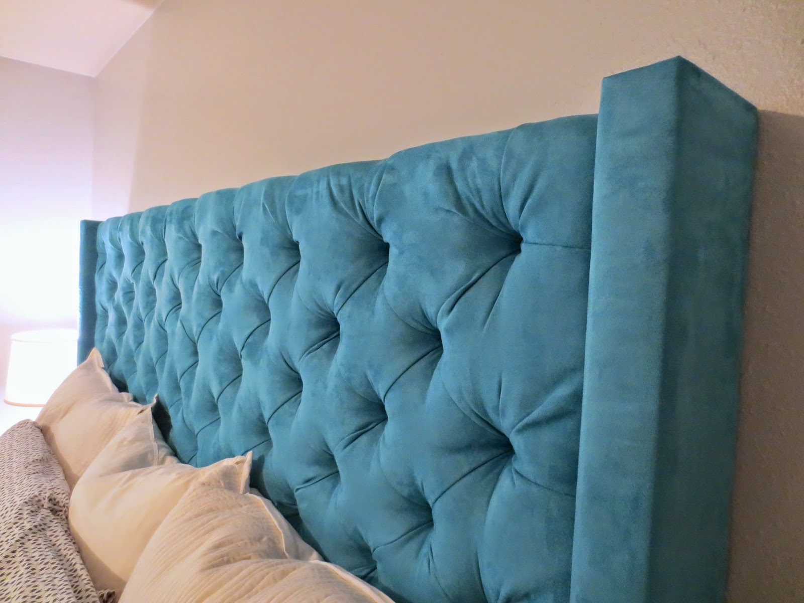 We Achieved The Look Of A High End Diamond Tufted Headboard For Fraction Cost I Think In Total Project About 200 250