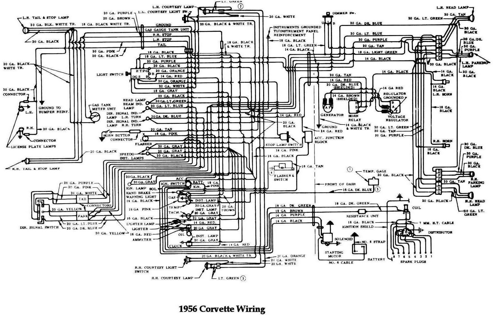 1956 Chevy Color Wiring Diagram