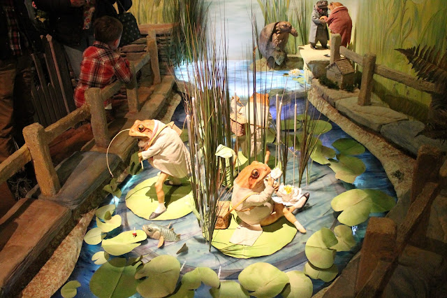 Jeremy Fisher on his lily-pad boat at Beatrix Potter Exhibition