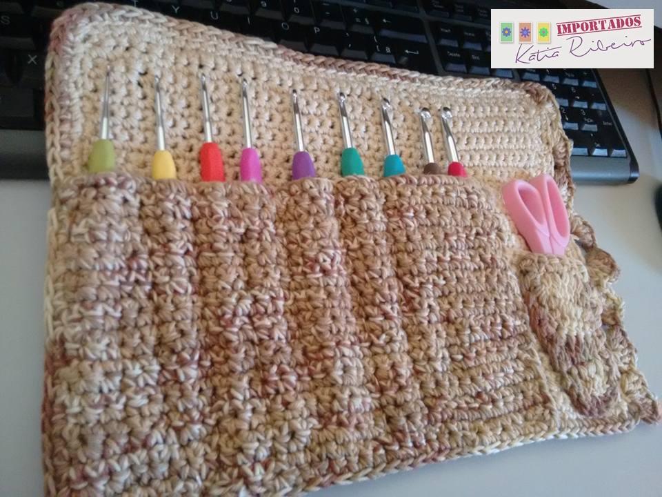 Estojo ( Case ) em Crochê para Agulhas Soft - Katia Ribeiro Crochê Moda e  Decoração 8962ac36155