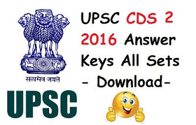 CDS 2 2016 Answer Keys (All sets) - Download