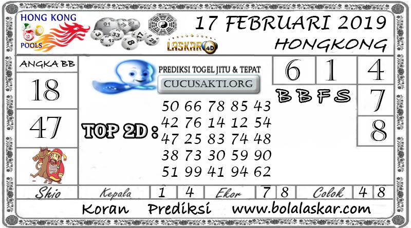 Prediksi Togel HONGKONG LASKAR4D 17 FEBRUARI 2019