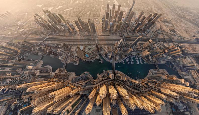 Impresionantes fotografias de Dubai captadas desde arriba