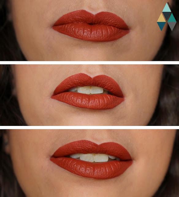 swatches et test encre à lèvres Maybelline teinte Globetrotter