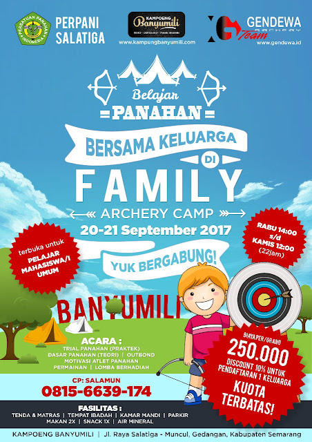 Family Archery Camp, Semarang, 20-21 September 2017.