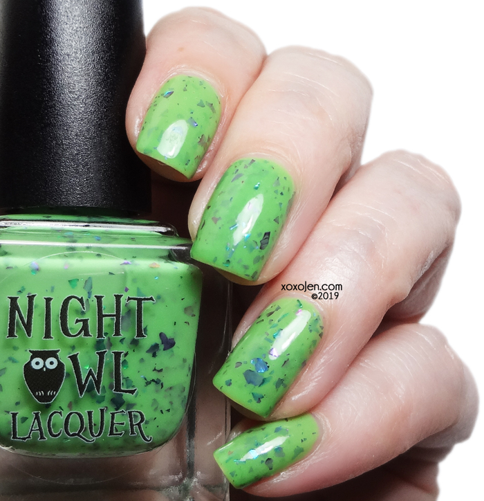 xoxoJen's swatch of Night Owl Lacquer - A Grave Misunderstanding