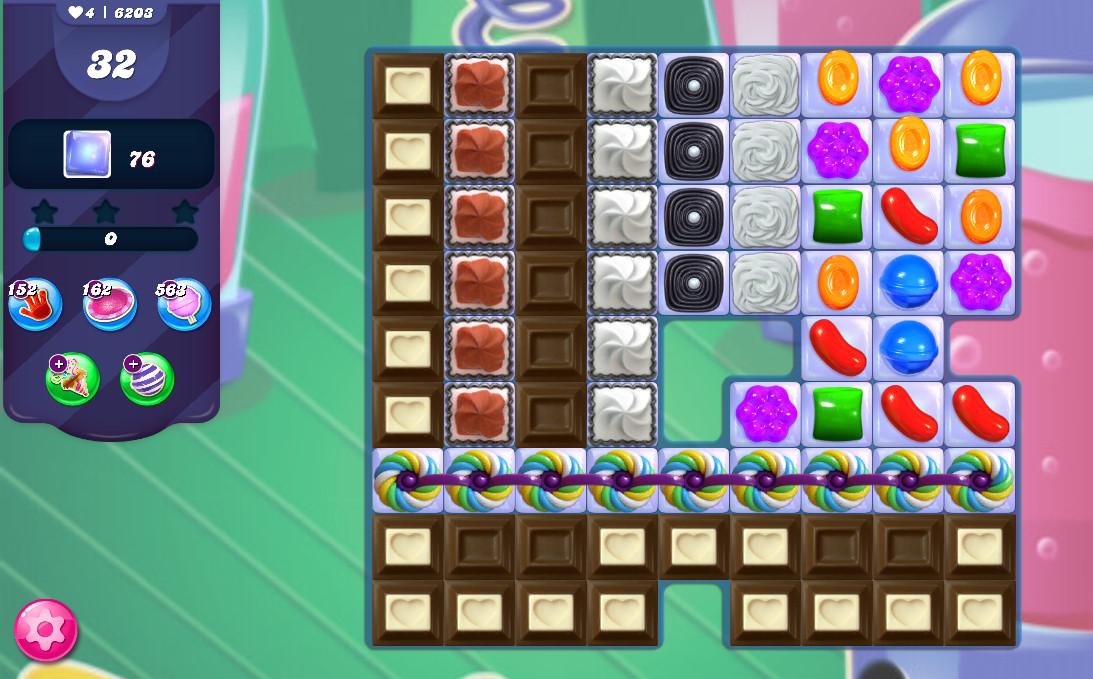 Candy Crush Saga level 6203