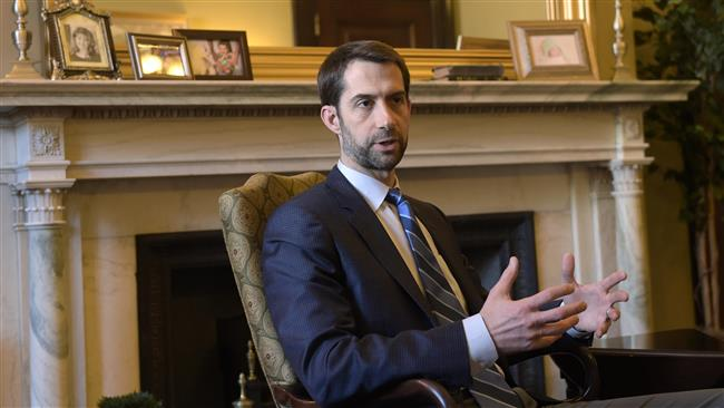 Trump-friendly Arkansas Republican Senator Tom Cotton parrots 'regime change' calls against Iran