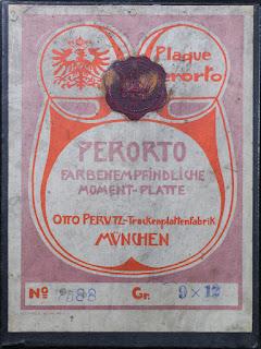 Karton für Fotoplatten - Perorto - Farbempfindliche Moment-Platte - Otto Perutz