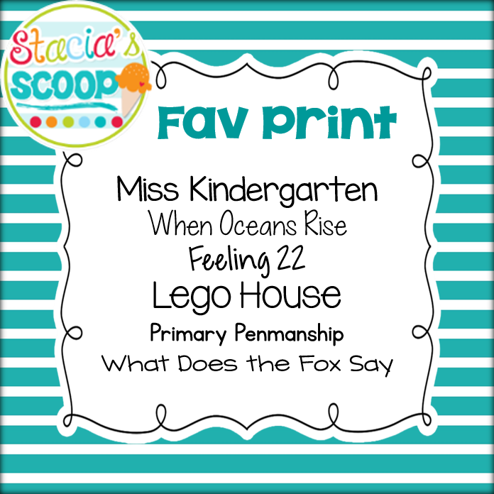Stacia's Scoop: Favorite Fonts Linky Party