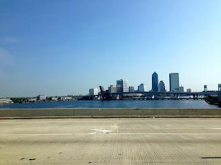 Driving through Jacksonville, Florida