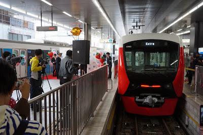 静岡鉄道A3000形A3002Fのセレモニーの様子