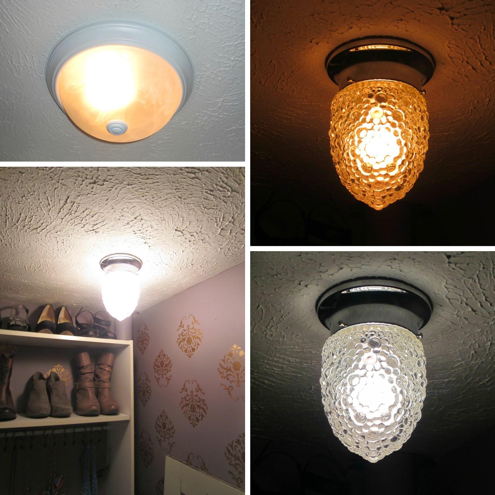 Closet Light Fixture: Have Mercy: Closet Make-Over: Tah-Dah