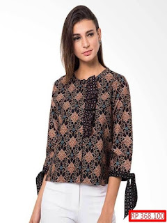 contoh gambar baju batik wanita modern