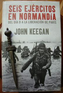 Portada del libro Seis ejércitos en Normandía, de John Keegan
