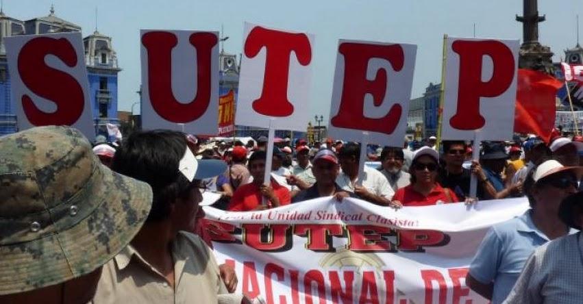 SUTEP: Profesores irán a un paro de 24 horas este 13 de Julio en Lima y Regiones