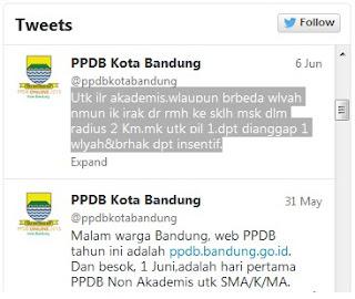 twitter ppdb online kota bandung, ppdb online kota bandung, ppdb