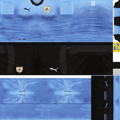 PES 6 Kits Uruguay National Team World Cup 2018 by Dibu Edition