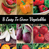 8 Easy to Grow Vegetables #Organic_Gardening