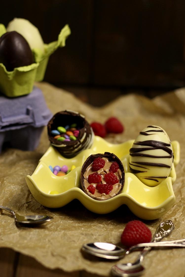 Selbstgemachte (gefüllte) Schokoladeneier - Löffeleier 2