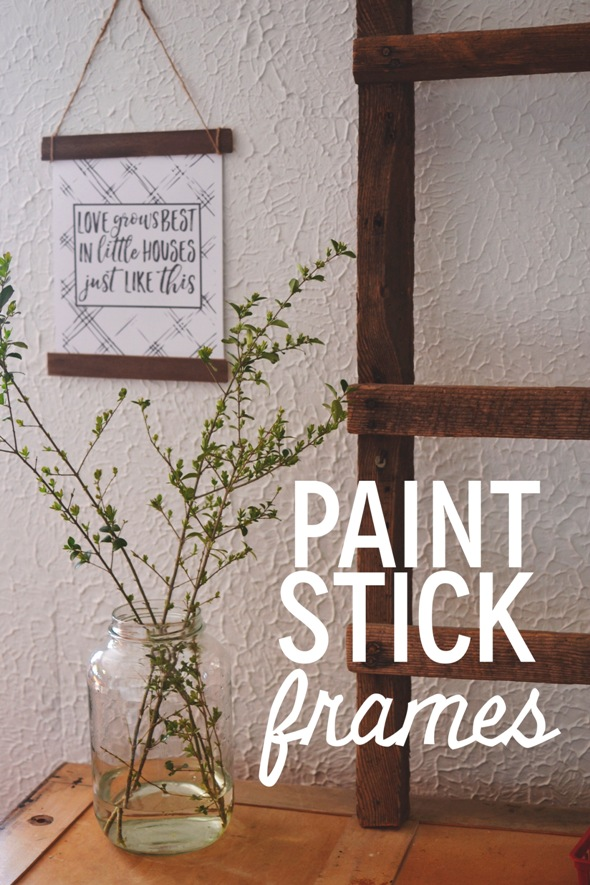 so the cook said: Paint Stick Frame Wall Hanging