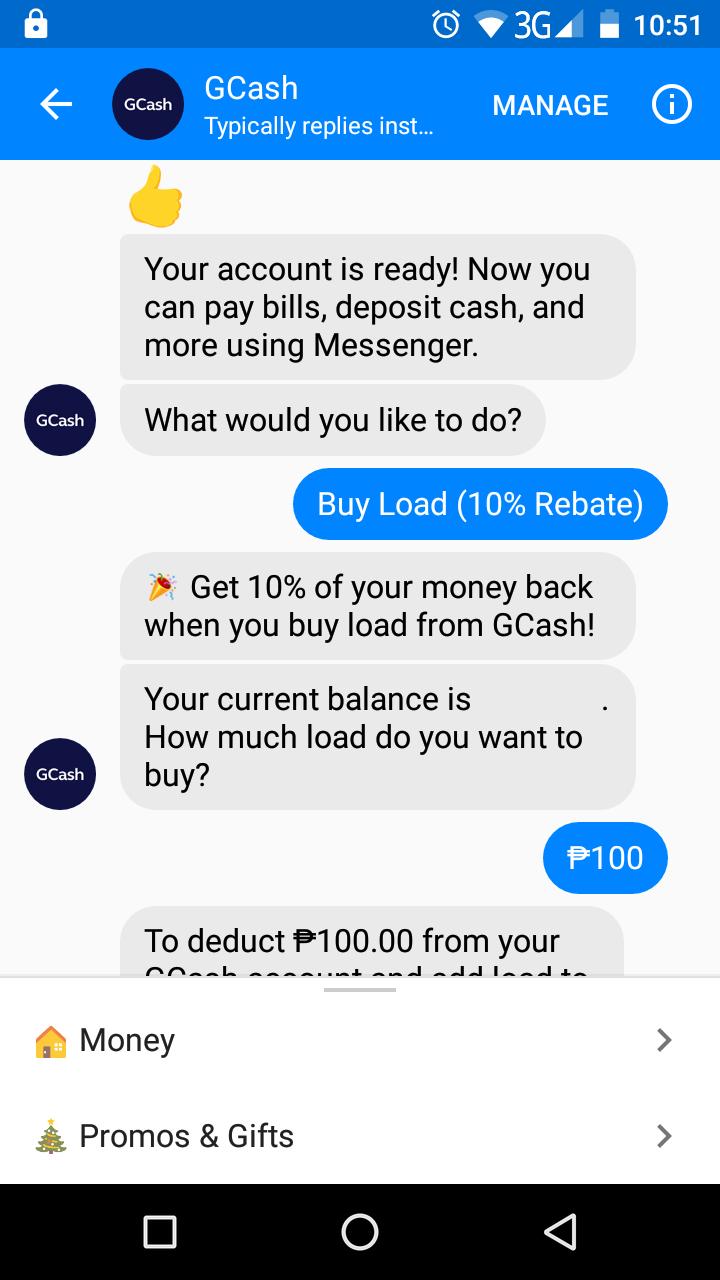 Dropped like a Hatputito: GCash | 100% Rebate on Buy Load Option