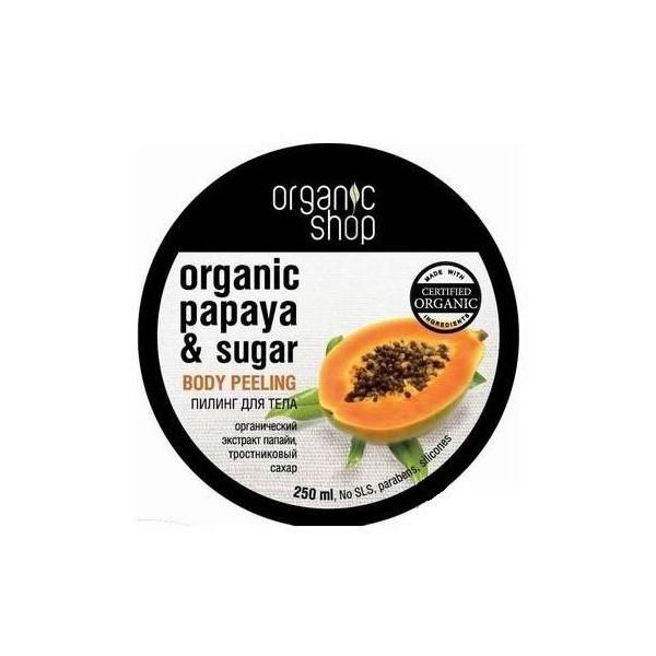 naturalny peeling cukrowy do ciała papaya Organic Shop prezenty świąteczne co kupić święta 2016