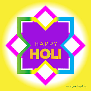 beautiful free happy holi festival of colors greeting card