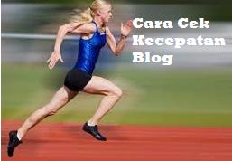 Cek Kecepatan Blog 2019